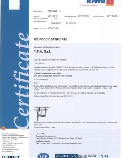 1Certificato IFS