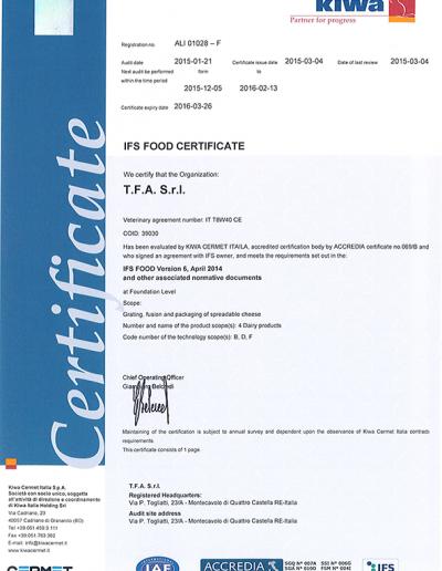 Certif IFS TFA